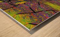 Green Dahlia 3 Wood print