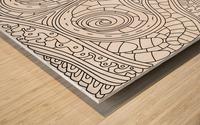 Wandering Abstract Line Art 03: Black & White Wood print