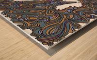 Wandering Abstract Line Art 05: Yellow Wood print