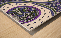 Wandering Abstract Line Art 06: Purple Wood print