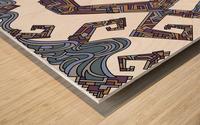Wandering Abstract Line Art 08: Yellow Wood print