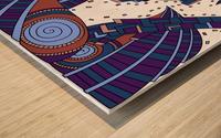 Wandering Abstract Line Art 10: Orange Wood print
