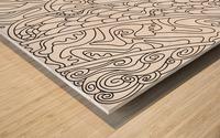 Wandering Abstract Line Art 11: Black & White Wood print