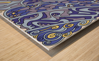 Wandering Abstract Line Art 11: Blue Wood print
