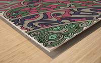 Wandering Abstract Line Art 11: Pink Wood print