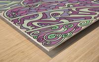 Wandering Abstract Line Art 11: Purple Wood print