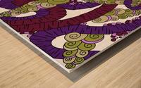Wandering Abstract Line Art 13: Burgundy Wood print