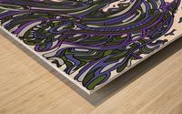 Wandering Abstract Line Art 14: Purple Wood print