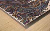 Wandering Abstract Line Art 14: Yellow Wood print