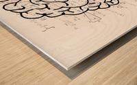 brain mind psychology idea drawing Wood print