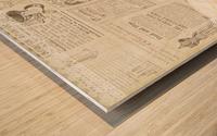 newsprint background Wood print
