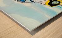 Beach Car Wood print
