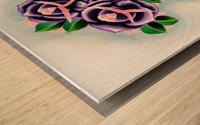 Roses Impression sur bois