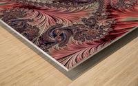 Fractal Art-Silk Brocade Wood print