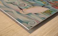 Memory of the coral reef Wood print