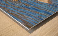 Flaunting The Blues Wood print