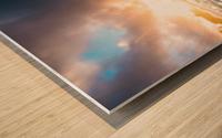Seafoam Sunrise Wood print