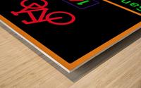 Norwegian bike route sign Wood print