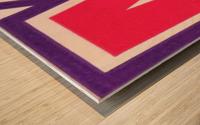 1957 Maryland Terrapin Art Reproduction Wood print