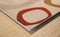 Shapes 08 - Abstract Geometric Art Print Wood print