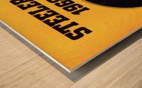 1968_National Football League_Pittsburgh Steelers_Media Guide_Row One Brand Vintage Media Guide Art Wood print