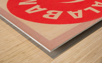 University of Alabama Crimson Tide Football Ticket Stub Art Poster Wood print