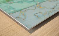 background marble set Wood print