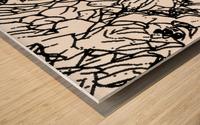 Black & White Art Transparent Wood print