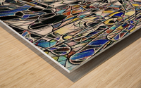 Color Art Abstract Pattern Wood print