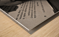 Box Me In Wood print