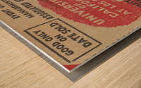 1937 USC Trojans vs. UCLA Bruins College Football Ticket Stub Art Admit One Row One Brand Wood print