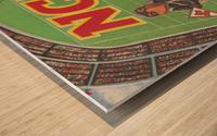 1984 NCAA Football Ad Reproduction_Vintage Sports Ads_Retro Sports Advertisement Wood print