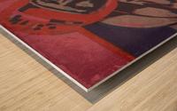 Vintage Football Art_Ticket Stub Reproduction Prints Wood print