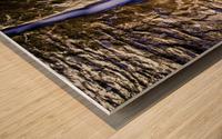 The Crack Wood print