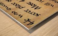 Secret Place Wood print