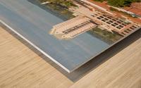 Broad Street Downtown Augusta GA Aerial View 8259 Wood print