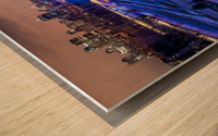 High angle in the slide Wood print