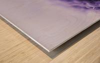 Purple Snowflakes Wood print