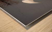 The Kiss White Egret Wood print