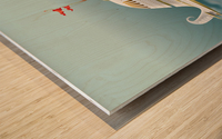 Imbarcazione Volante Dommo Wood print