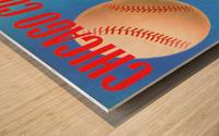 Otis Shepard Remix_Public Domain Sports Art Remixes_Chicago Cubs Poster by Row One Wood print