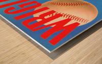 RowOneBrandSportsArtRemixes_PublicDomainSportsArtRemix_ChicagoCubsWrigleyPoster Wood print