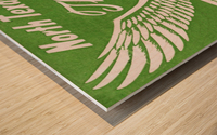 north texas state college unt eagles vintage poster college art collection Wood print