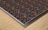 seamlessprismaticgeometricpatternwithbackground Wood print