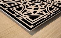 Blackandwhitegeometricgeometrypattern Wood print
