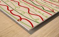 scribble pattern Wood print