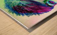 spritecolorsalien7 Wood print
