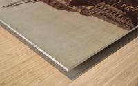 Errichtung der Saulen Wood print