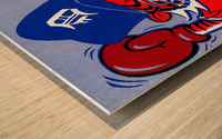 vintage detroit tigers poster retro sports art 1980s posters Wood print