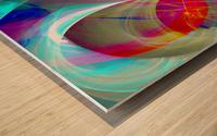 SWIRLS 1B Wood print